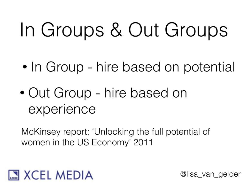 @lisa_van_gelder In Groups & Out Groups • In Gr...