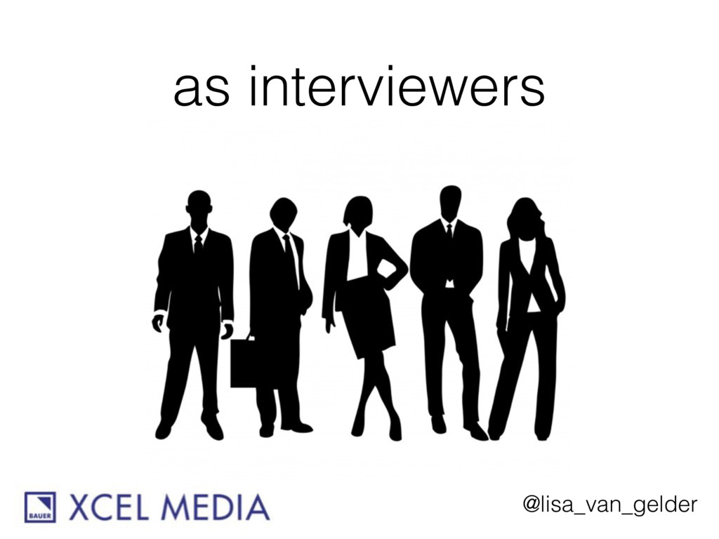 @lisa_van_gelder as interviewers