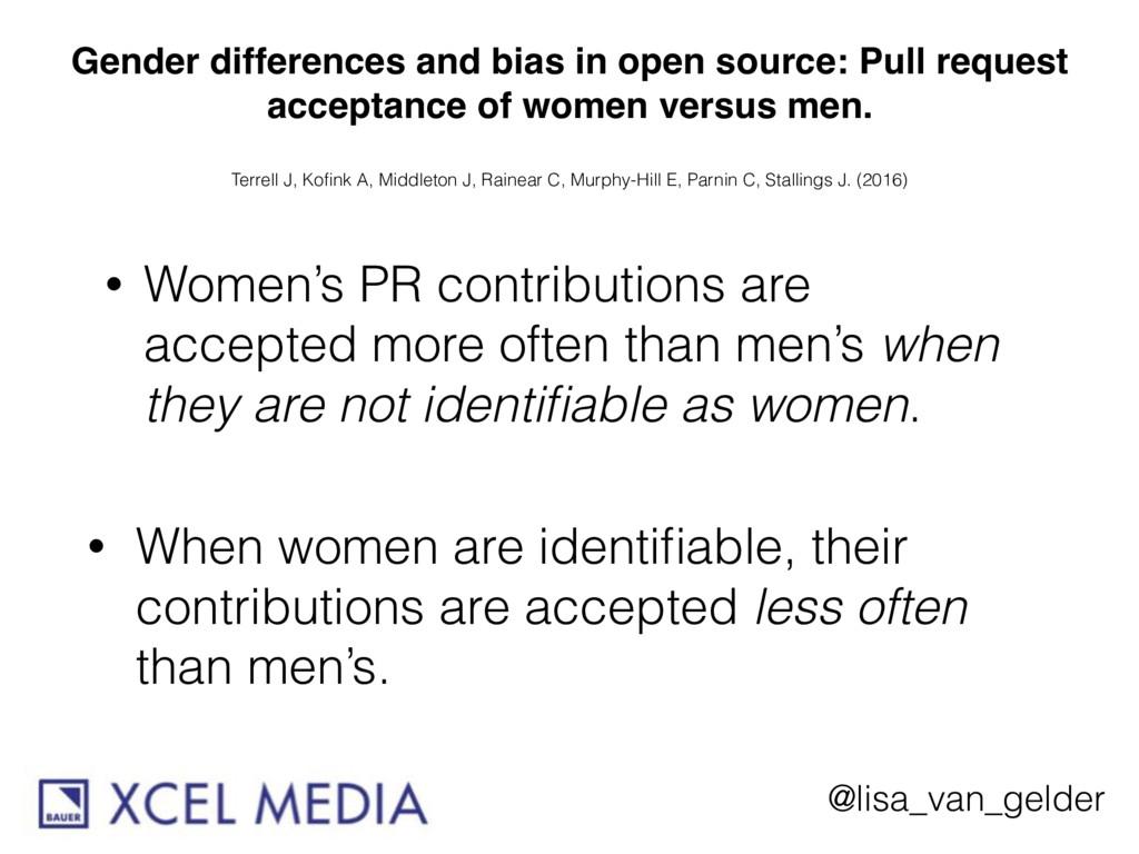 @lisa_van_gelder Gender differences and bias in...