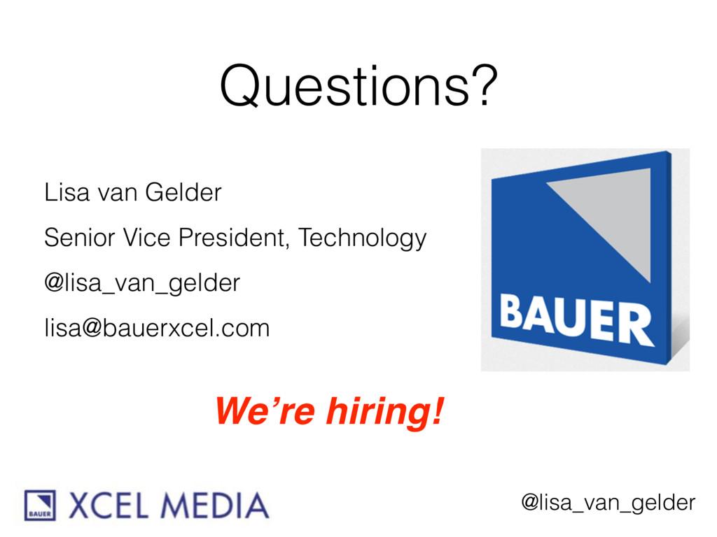 @lisa_van_gelder Questions? Lisa van Gelder Sen...