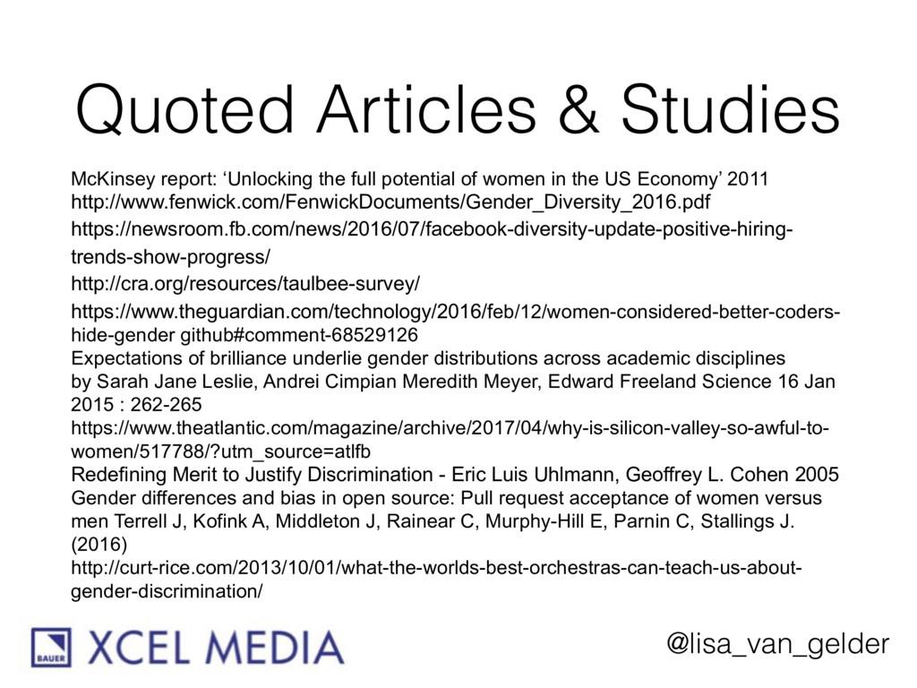 @lisa_van_gelder Quoted Articles & Studies McKi...