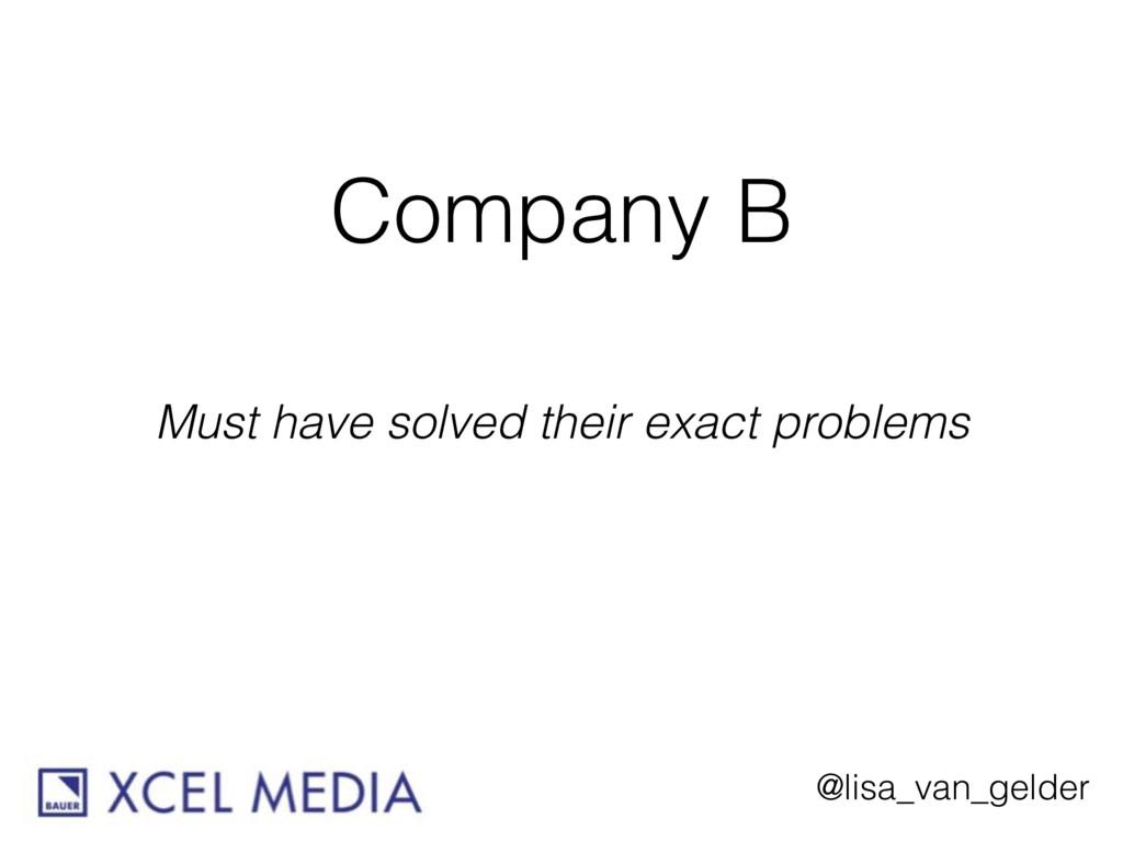 @lisa_van_gelder Company B Must have solved the...