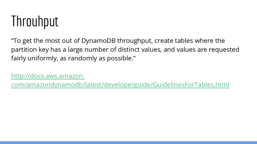 """Throuhput """"To get the most out of DynamoDB thro..."""