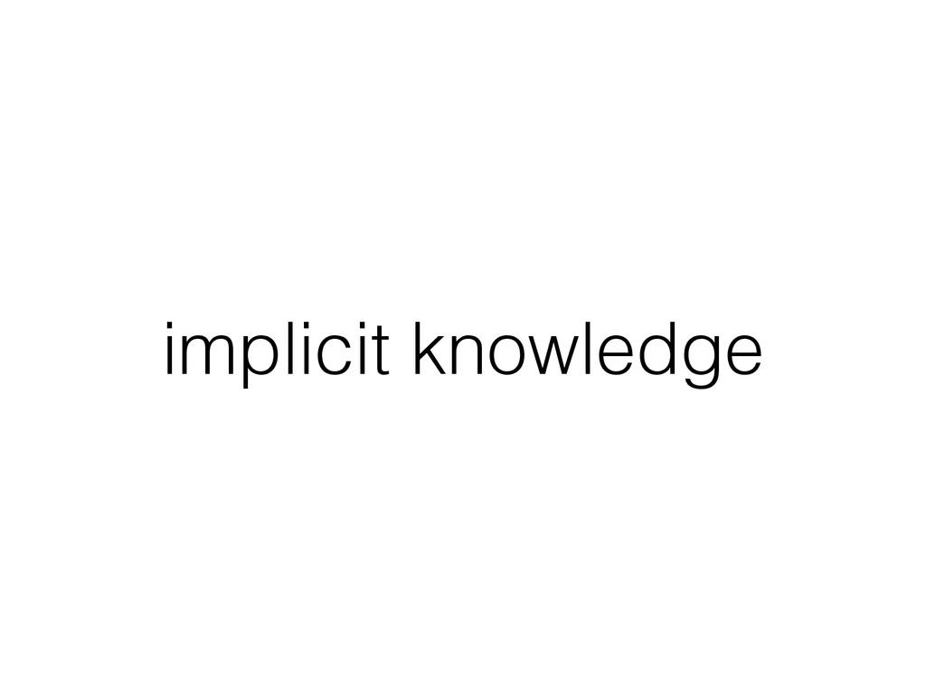 implicit knowledge