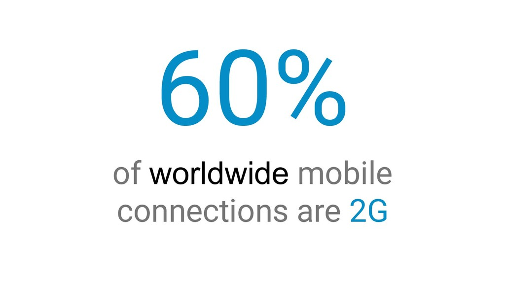 60% of worldwide mobile connections are 2G
