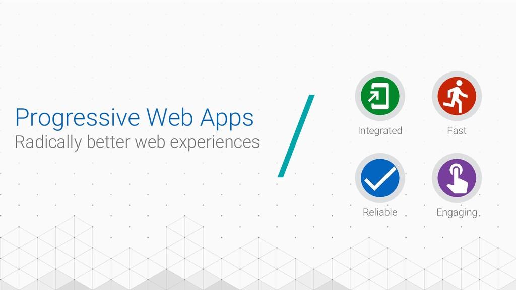 Progressive Web Apps Radically better web exper...