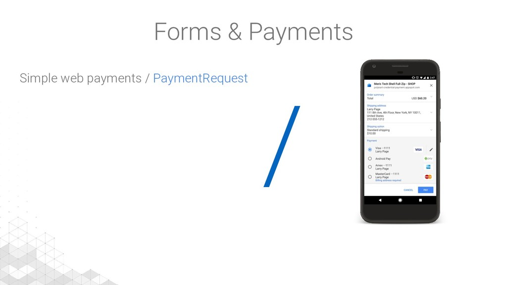 / Simple web payments / PaymentRequest Forms & ...
