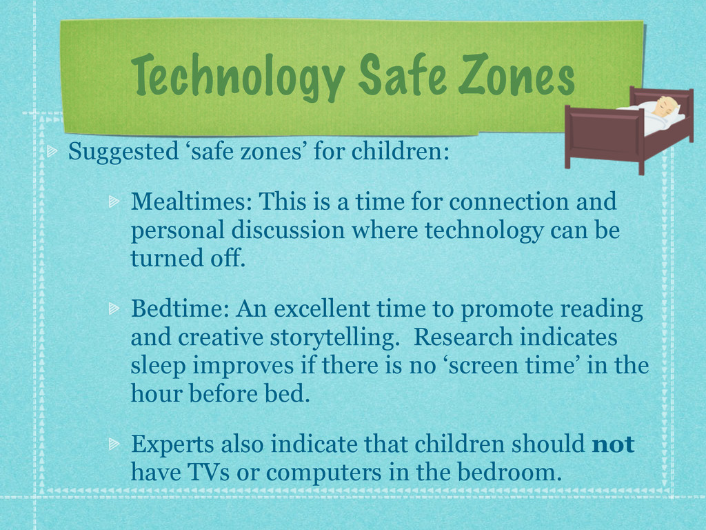 Technology Safe Zones Suggested 'safe zones' fo...