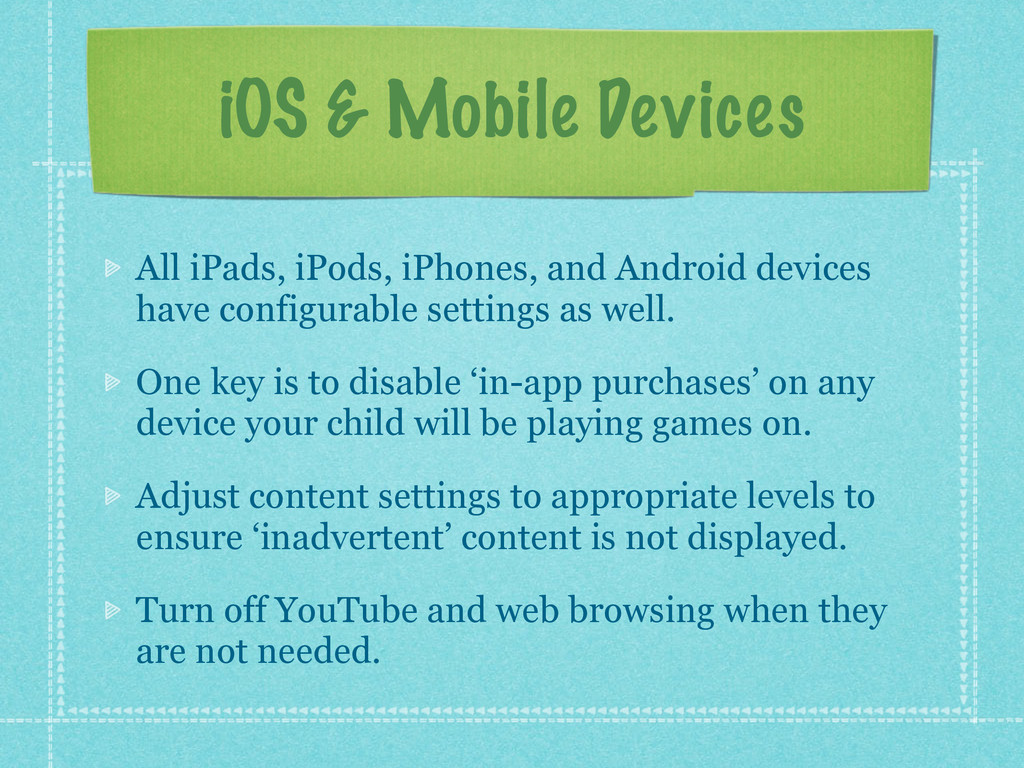 iOS & Mobile Devices All iPads, iPods, iPhones,...