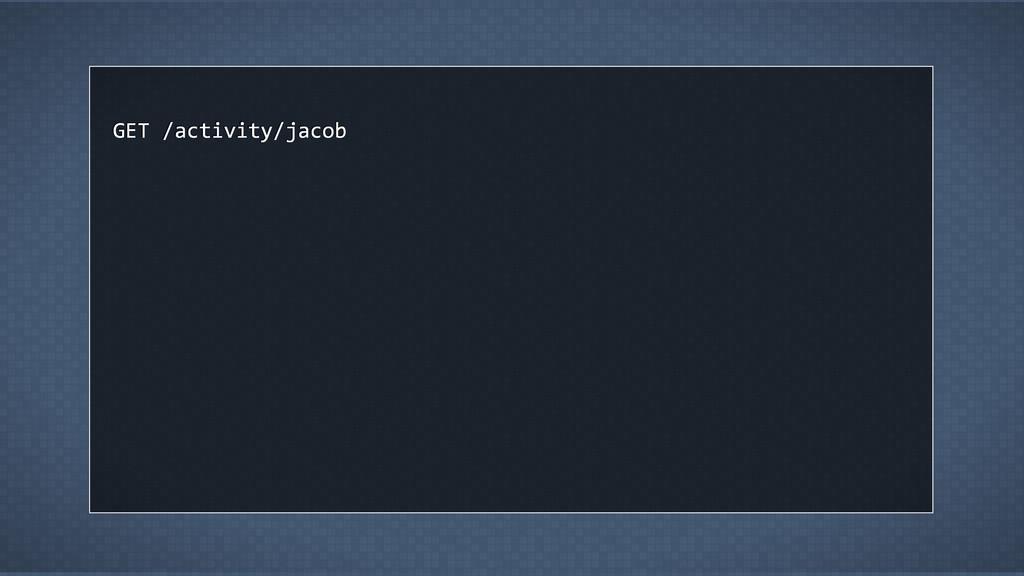 GET /activity/jacob