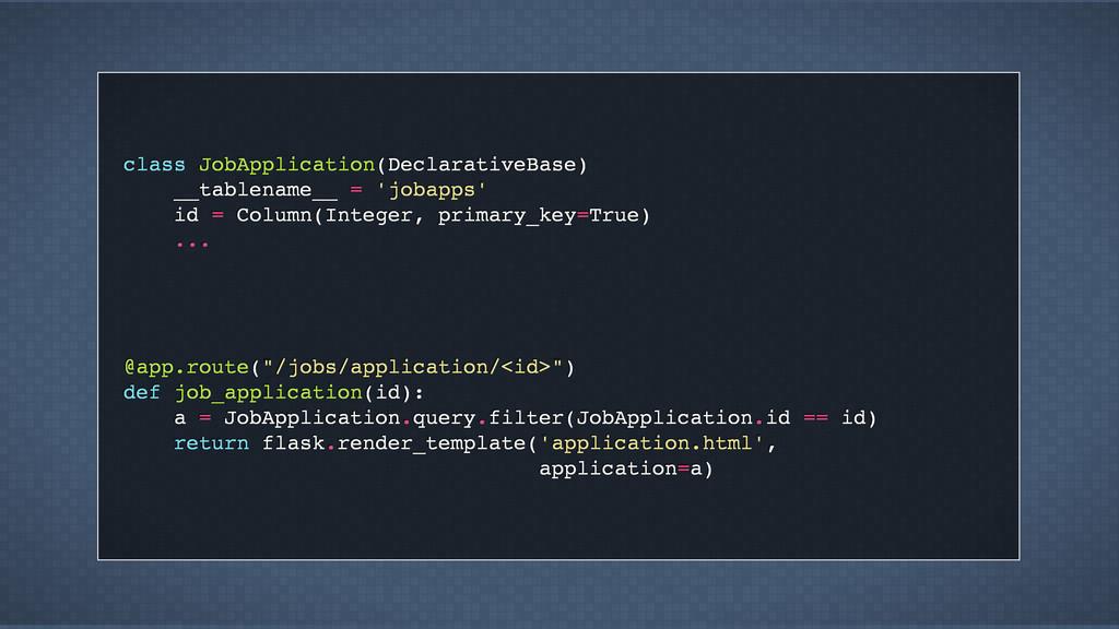 class JobApplication(DeclarativeBase) __tablena...