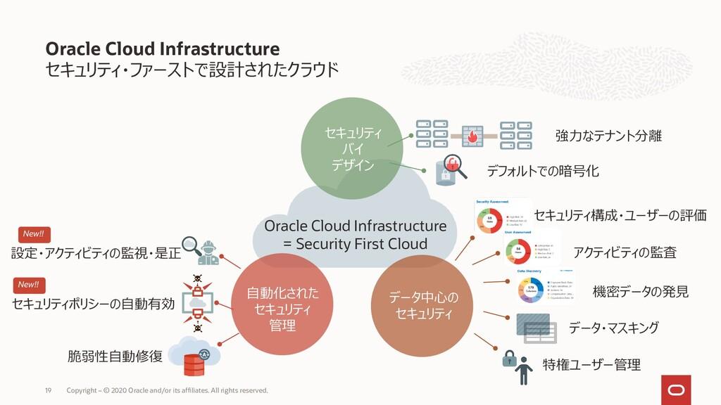 セキュリティ・ファーストで設計されたクラウド Oracle Cloud Infrastruct...