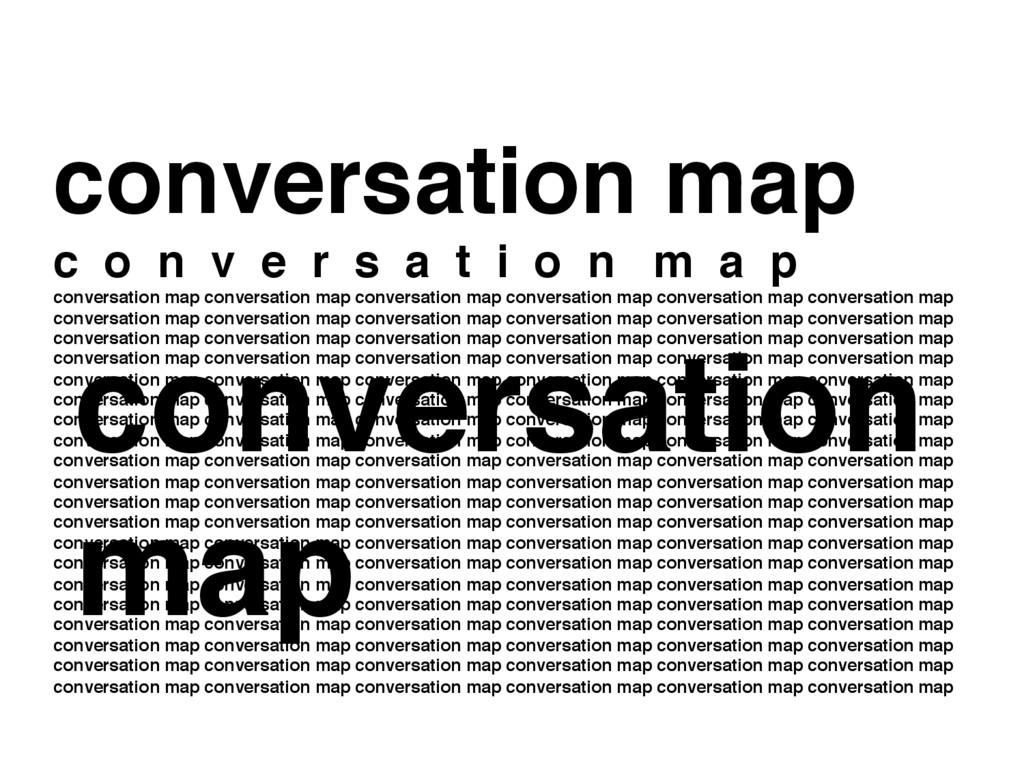 conversation map c o n v e r s a t i o n m a p ...