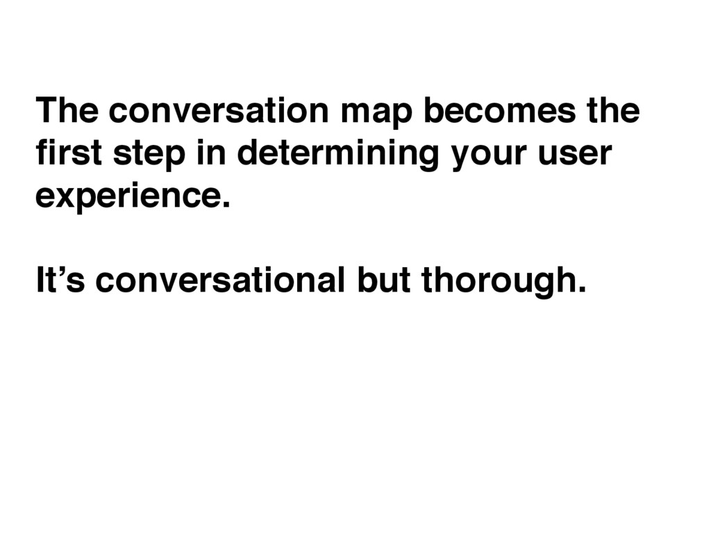 The conversation map becomes the first step in d...