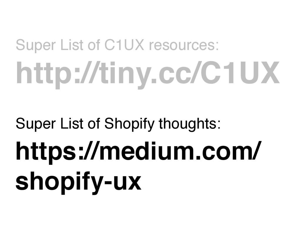 Super List of C1UX resources: http://tiny.cc/C1...