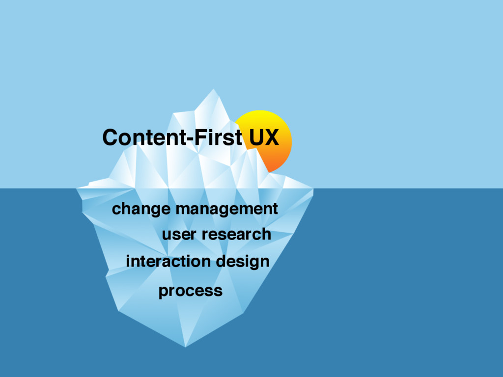 Content-First UX change management process user...