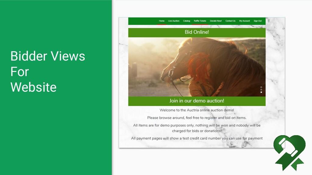 Bidder Views For Website
