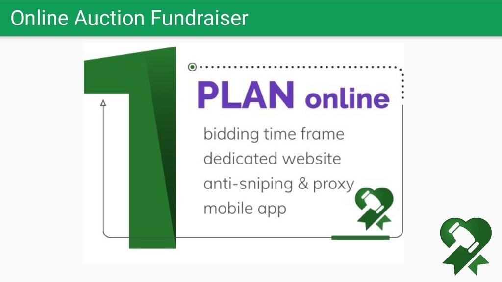 Online Auction Fundraiser