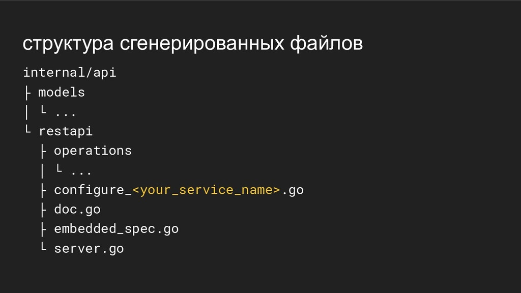 структура сгенерированных файлов internal/api ├...