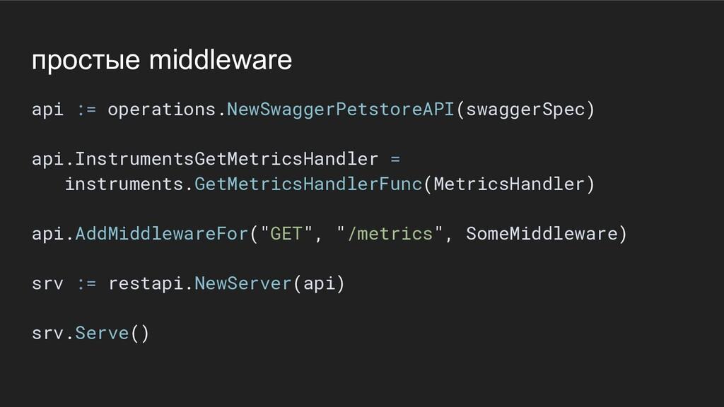 простые middleware api := operations.NewSwagger...