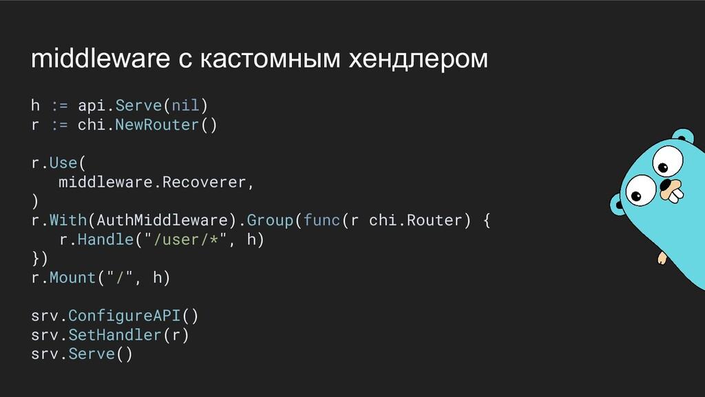middleware с кастомным хендлером h := api.Serve...