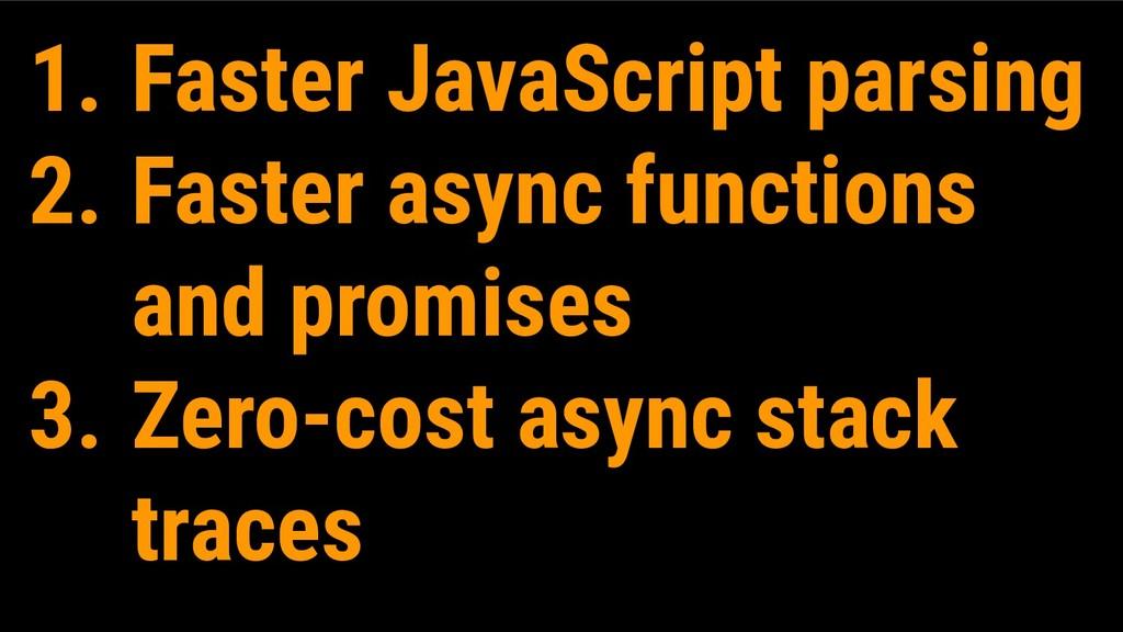 1. Faster JavaScript parsing 2. Faster async fu...