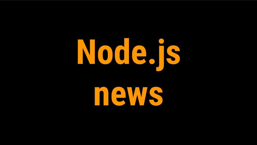 Node.js news