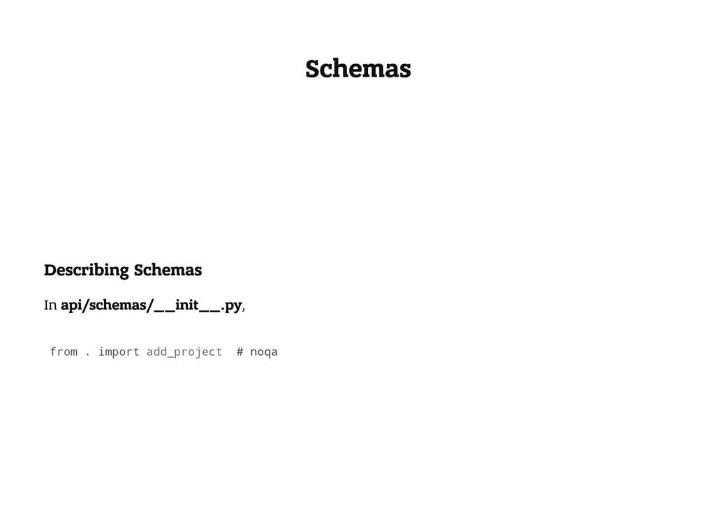 Schemas Describing Schemas In api/schemas/__ini...