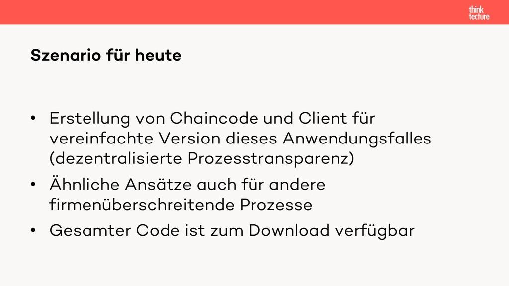 • Erstellung von Chaincode und Client für verei...