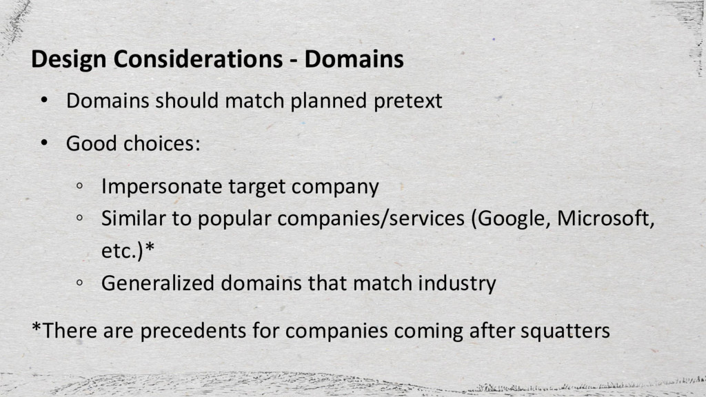 Design Considerations - Domains • Domains shoul...
