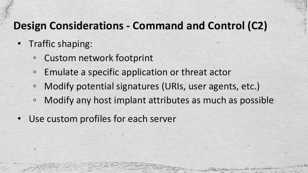 Design Considerations - Command and Control (C2...
