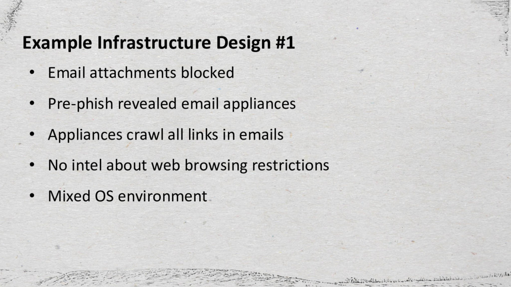 Example Infrastructure Design #1 • Email attach...