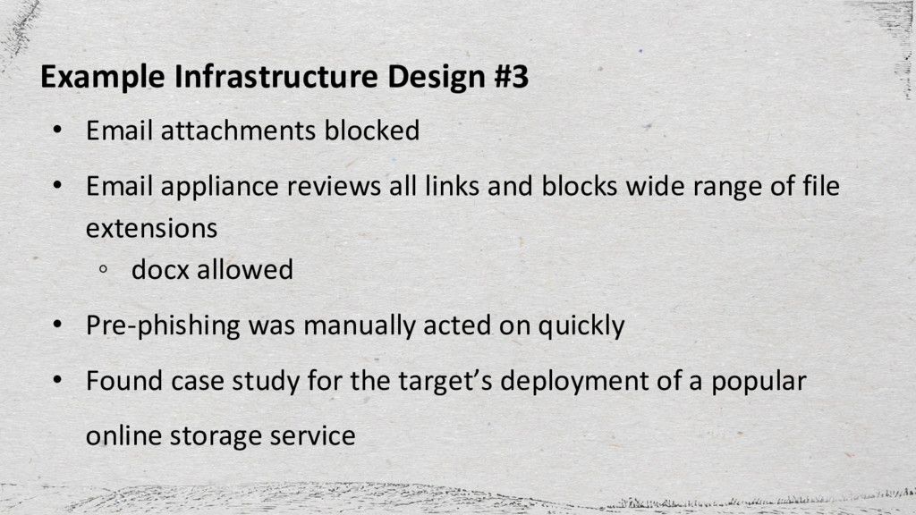 Example Infrastructure Design #3 • Email attach...