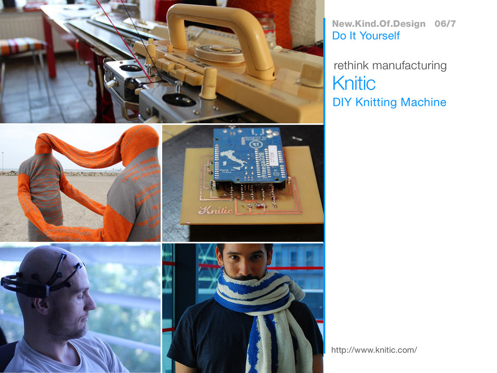 http://www.knitic.com/ DIY Knitting Machine Kni...