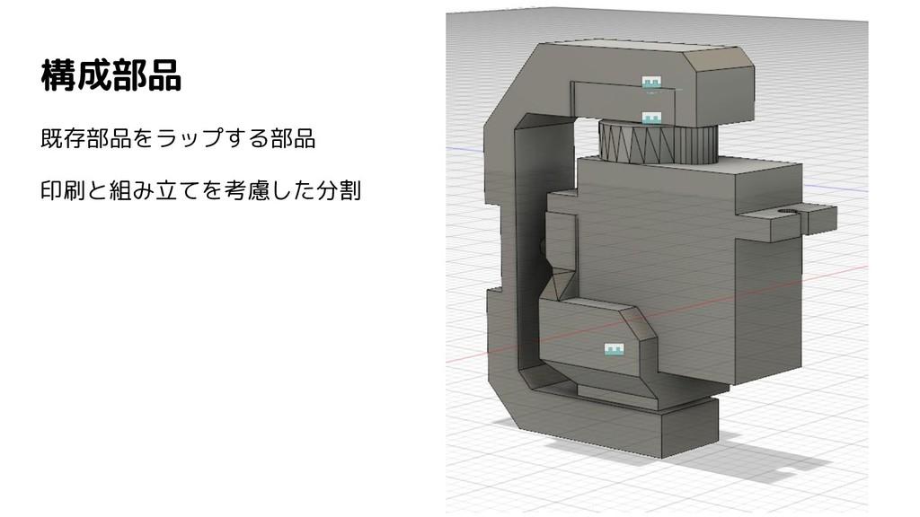 構成部品 既存部品をラップする部品 印刷と組み立てを考慮した分割