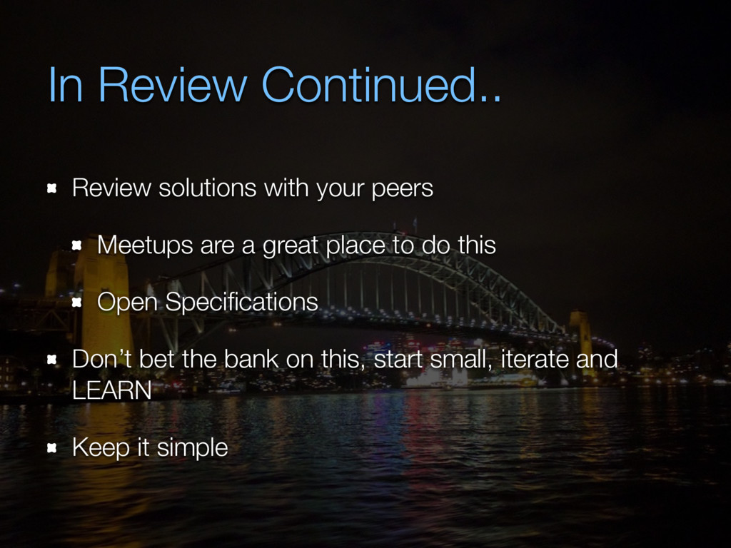 In Review Continued.. Review solutions with you...