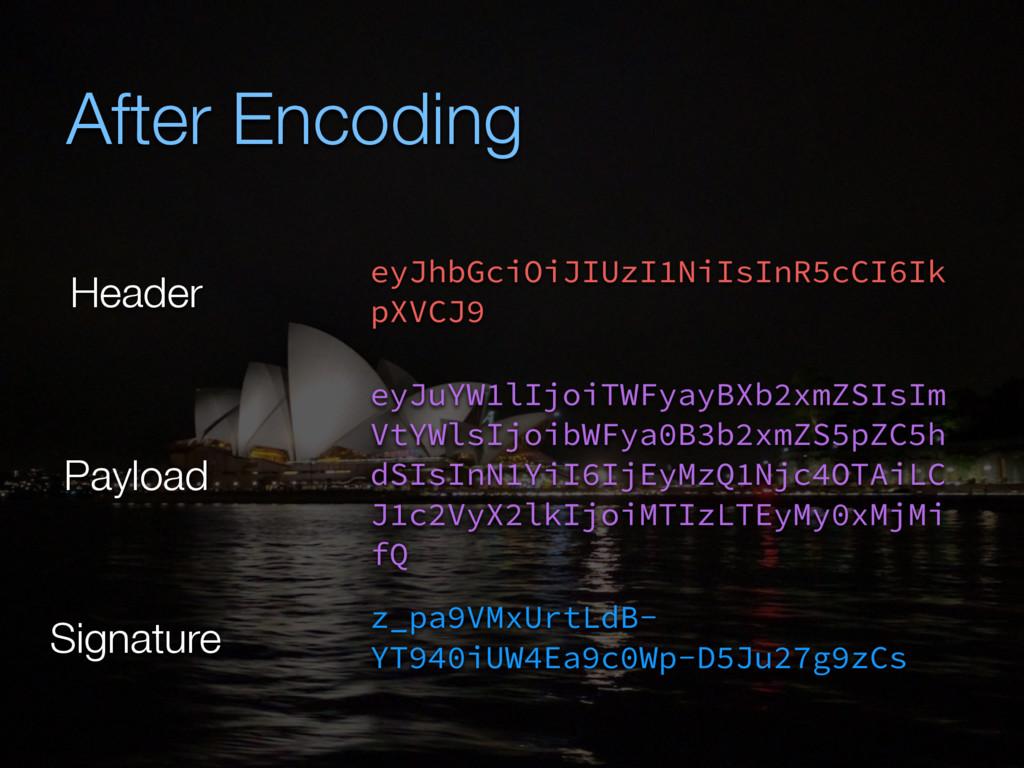 After Encoding eyJhbGciOiJIUzI1NiIsInR5cCI6Ik p...