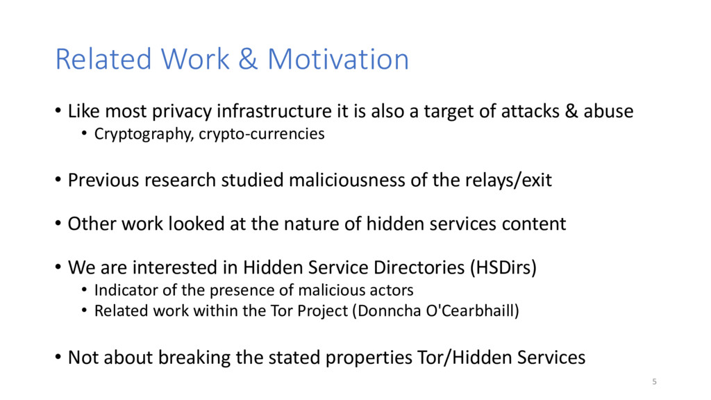 Related Work & Motivation • Like most privacy i...