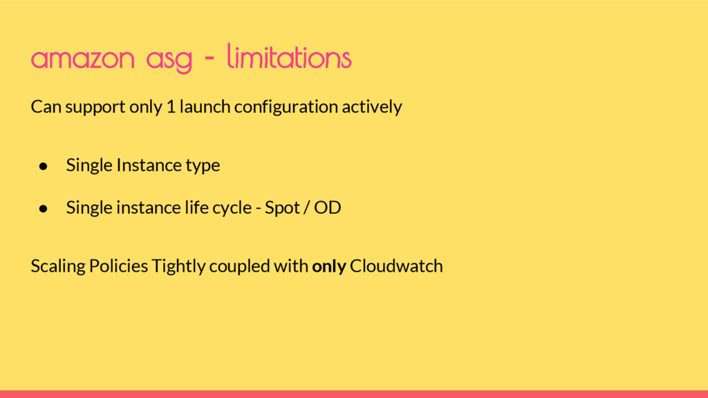 Can support only 1 launch configuration activel...