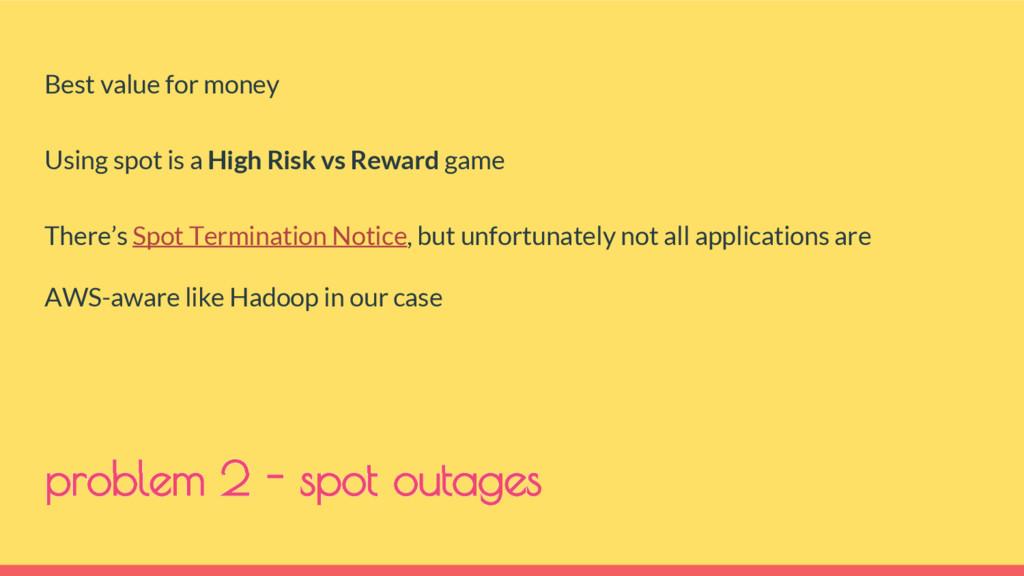 problem 2 - spot outages Best value for money U...
