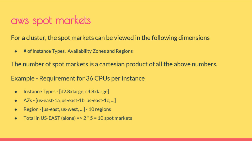 For a cluster, the spot markets can be viewed i...