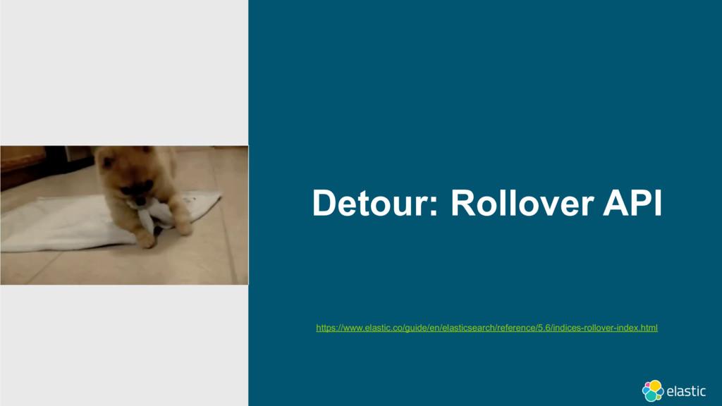 Detour: Rollover API https://www.elastic.co/gui...
