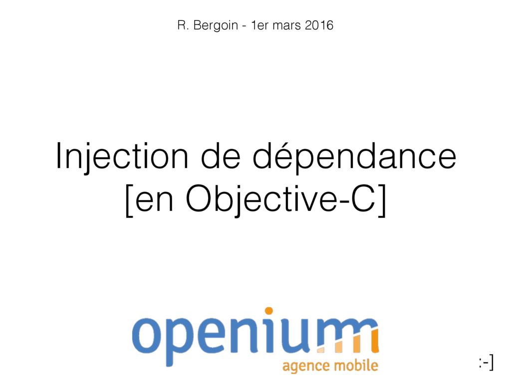 Injection de dépendance [en Objective-C] :-] R....
