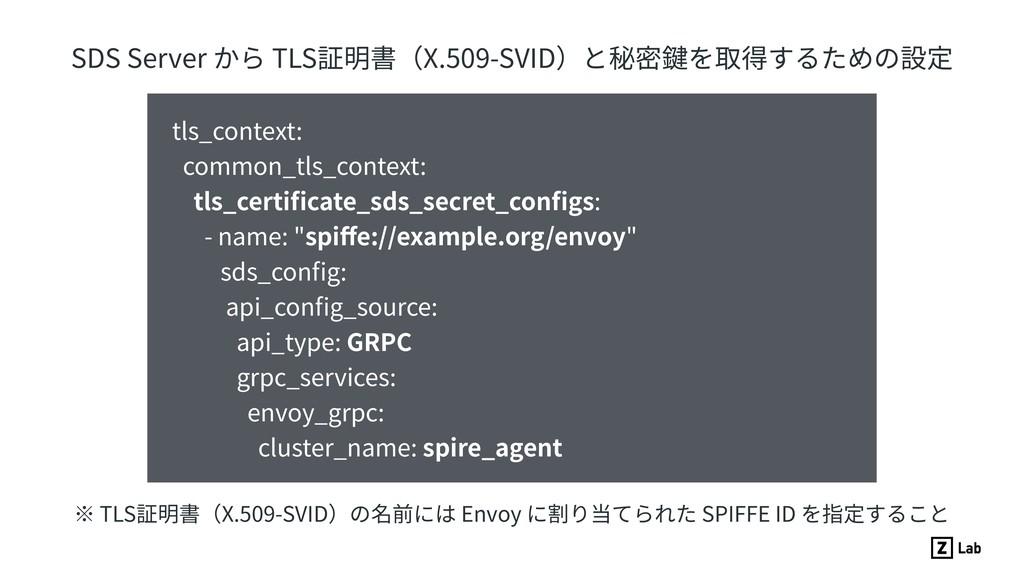 SDS Server から TLS証明書(X.509-SVID)と秘密鍵を取得するための設定 ...