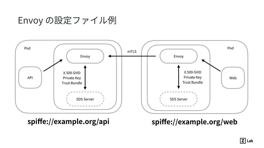API Pod Envoy X.509-SVID Private Key Trust Bund...