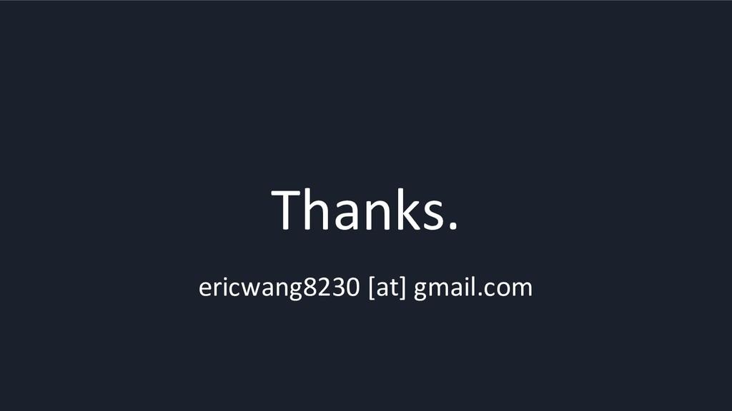 Thanks. ericwang8230 [at] gmail.com