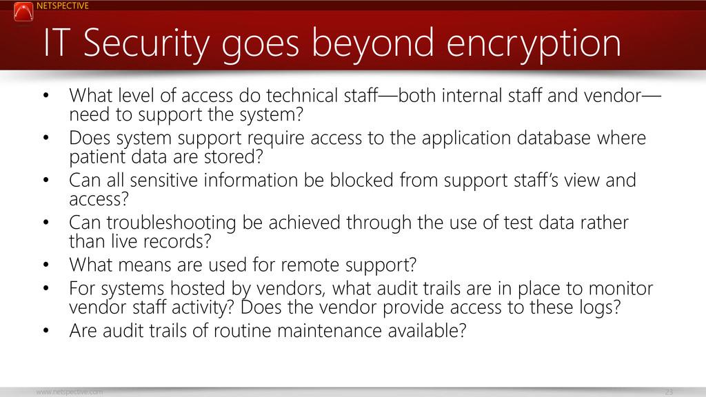 NETSPECTIVE www.netspective.com 23 IT Security ...