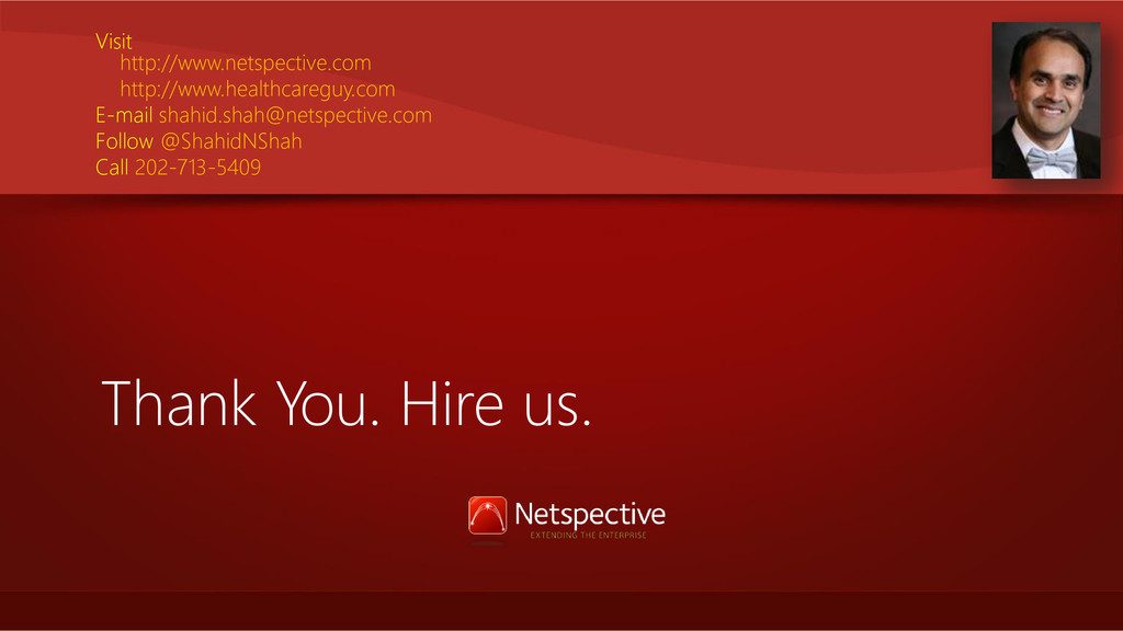 Thank You. Hire us. Visit http://www.netspectiv...