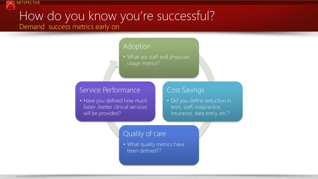 NETSPECTIVE www.netspective.com 7 How do you kn...