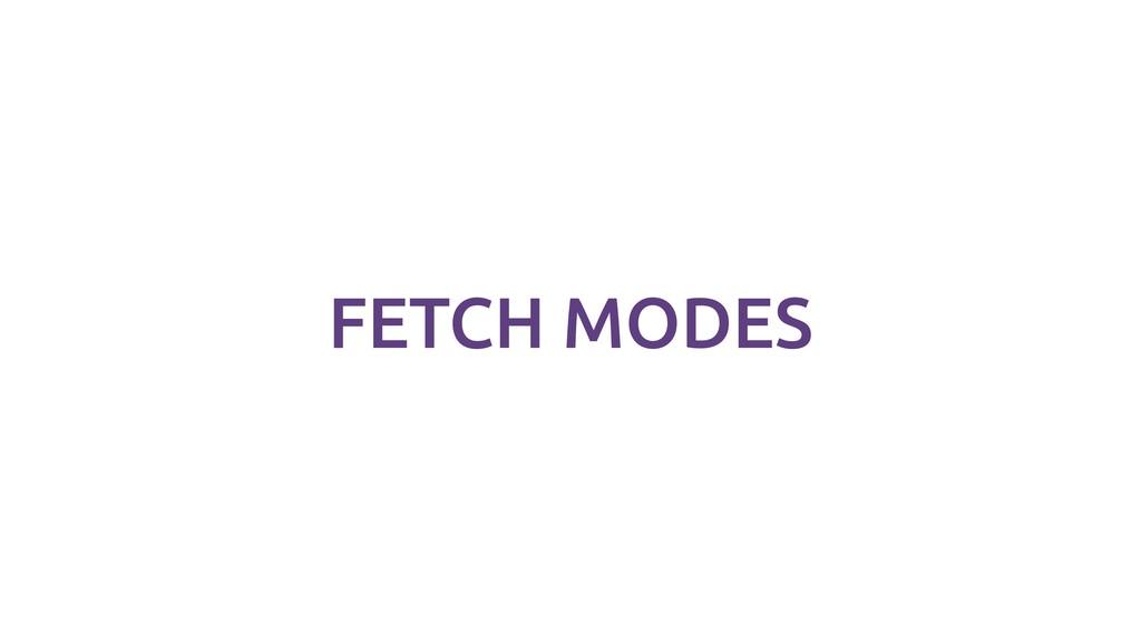 FETCH MODES